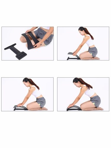 Spine Pain Relief Lumbar Traction Stretching Waist Back Massage Board Slimming Shaping Size: 385*12cmThree gears adjustableMaximum loadable is to use