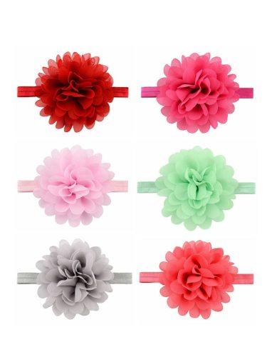 Baby 's Headbands 6 Pcs Elastic Flower Solid Baby Hair Girl Hairbands