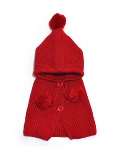 2 Pcs Baby's Scarf + Hat Solid Color Comfy Warm Knitted Hat Beanies Boy