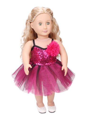 Kid's Doll Clothes Dress Accessory Shiny Sequins Patchwork Outfit For 18 Inch