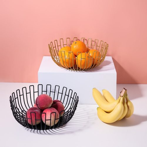 1 Piece Fruit Basket Container Bowl Storage Basket Modern Simple Style Iron Art Desktop Kitchen Drain Shipping Unrestricted Specifications:Size: None