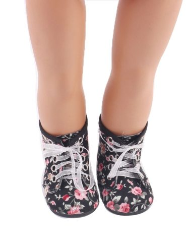 Doll Shoes Floral Vintage Trendy Dress Up & Pretend Suitable for 18 inch dolls