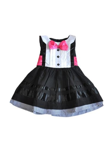 Girl's Cute Sleeveless Girl's Bow Patchwork Cosplay Dress