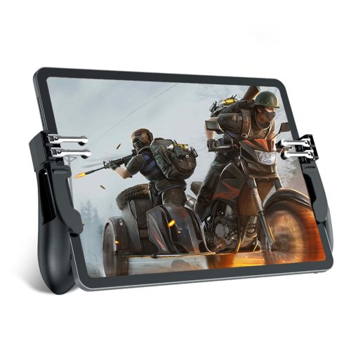 2 Pieces Game Triggers Controller Six Finger Gamepad Auxiliary Grips For iPad Tablet Mobile Game Joystick SilverSize: 6cm x 4cm x 2cmSuitable for a x