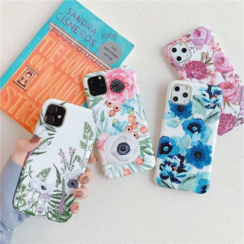 iPhone 11/11 Pro/11 Pro Max/XS/XR/XS Max/X/8/8 Plus/7/7 Plus/6/6S/6 Plus/6S Plus Phone Cover Flowers Pattern Fresh Shatter-Resistant Others Apple