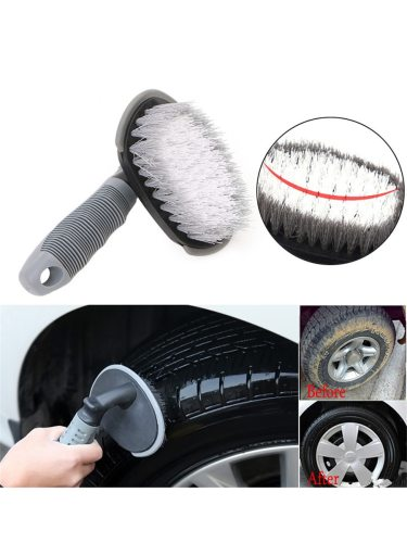 Durable Car Tire Washing Tool Portable Curved Tire Car Wash Brush length 18CM; bristle tray length 14CM Brush tray width: 8CM