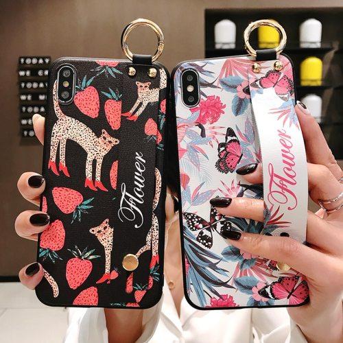 P30/P30 Pro/P30 Lite/Nova 4 Phone Cover Cartoon Animal Pattern Wristband Soft Simple SAMSUNG Full Protection Huawei