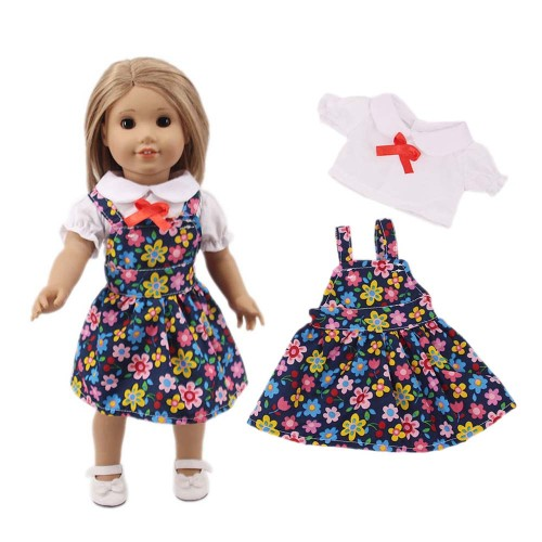 Doll's Dress Set Flower Pattern Dress and Fashion Top Set For in Inch Others Over 14 Years Old 30-50cm suitable for 18  doll Doll is not included