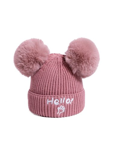 Baby's Hat Stylish Letters Pattern Thickened Warm Soft Hat Boy Beanies