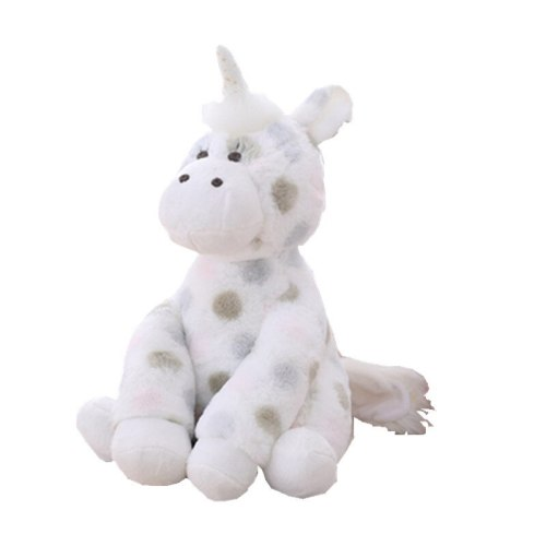One Piece Plush Toy Cartoon Unicorn Shaped Polka Dot Pattern Soft Stuffed Animal Toy Over 14 Years Old Others