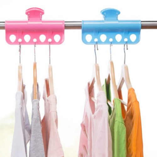 2 Pieces Clips Solid Color Holes Design Drying