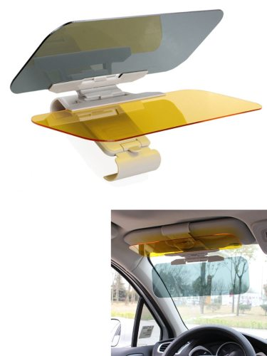 Car Cover HD Car Sun Visor Goggles Anti-dazzle Mirror Sun Note:There are two style sun visor: Model A and Model BThe model A is Ordinary style