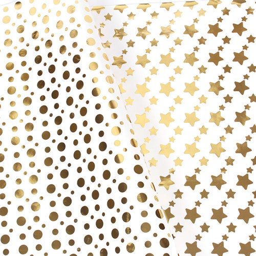 1 Piece Gift Packing Paper Creative Golden Stars Moon Pattern Wrapping Others