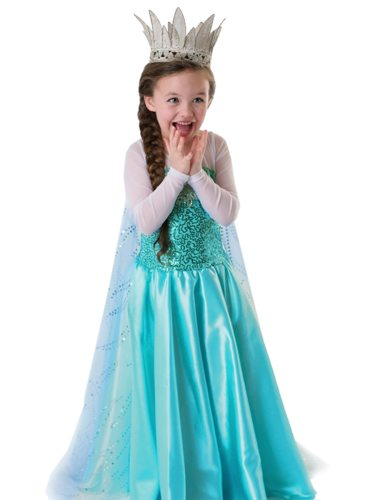 Toddler Girls Girl's Dress Cosplay Long Sleeve Sequins Kids Crown excluded