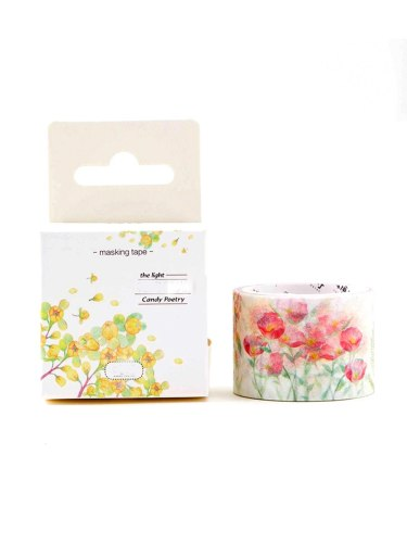 1 Roll Floral Shashi Tape Style Decorative Size: 30 mm * 5 m Fresh Finance Plant