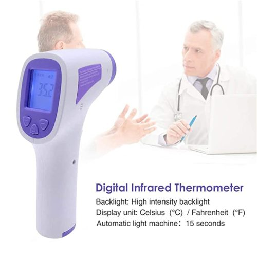 Non-Contact Infrared Thermometer Digital LCD Body Forehead Ear Parameters:Range in vivo mode: 32℃ - 425℃Range body surface mode: 0° C - ± 02℃