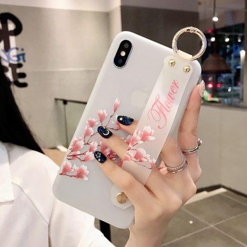 iPhone 11/11 Pro/11 Pro Max/XS/XR/XS Max/X/8/8 Plus/7/7 Plus/6/6S/6 Plus/6S Plus Phone Cover Flowers Pattern Soft Case Apple Shatter-Resistant Fresh