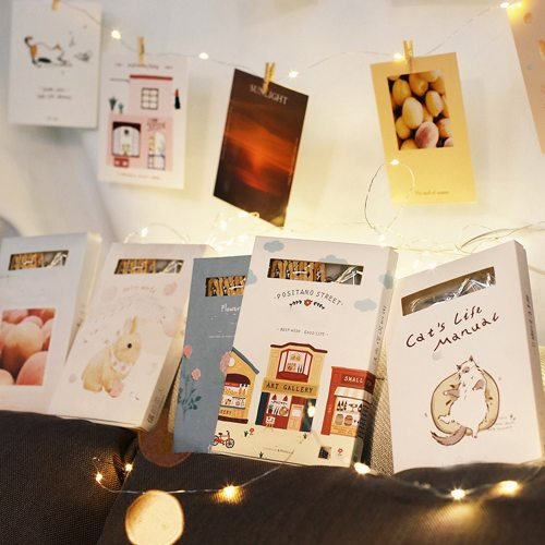 30 Pcs Cards Fresh Cute Light String Decor Blessing Post size:112*9cm
