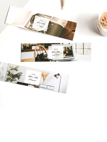 30 Pcs Paper Bookmarks Modern Style Photograph Printing Creative Book Page Marks Size: 15*6*1cm