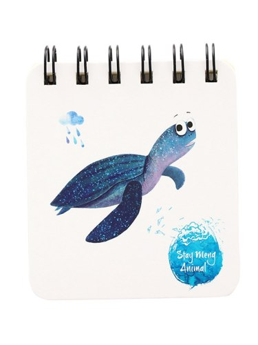 1 Pc Square Notebook Coil Binding Cartoon Pattern Blank Page Creative Student Notepad Writing Simple Others