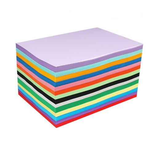 100Pcs Papers Solid Color Versatile Kid Hand Craft A4 Color Paper size:21*297cm