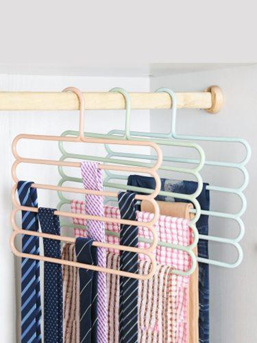 3 Pcs Pants Hangers Multi-Layer Practical Ties Scarves Specification: 345*35cm