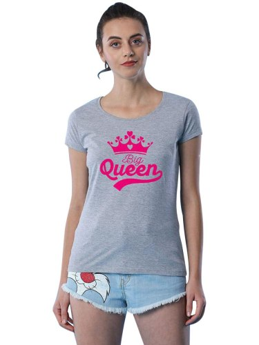 Kids Family Outfit Fashion Casual Letter Crown Pattern T Tops Family Outfit Girls Short Sleeve Crew Neck Floral