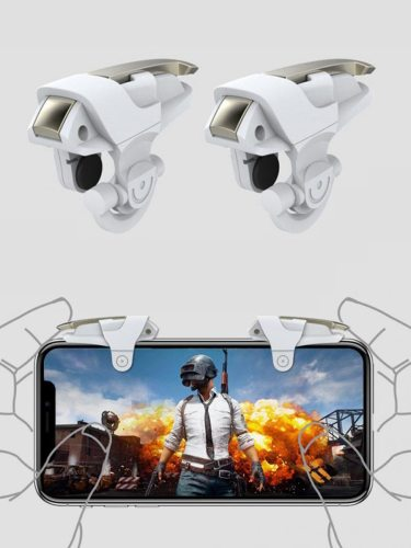 1 Pair Gaming Buttons Portable Mini Universal Handgrips For Mobile Metal button Others