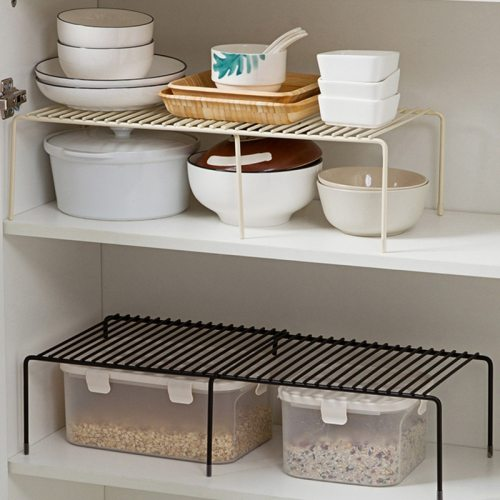 1 Piece Stretchable Metal Rack Kitchen Condiments Storage Size:23*14cm None Shipping Unrestricted