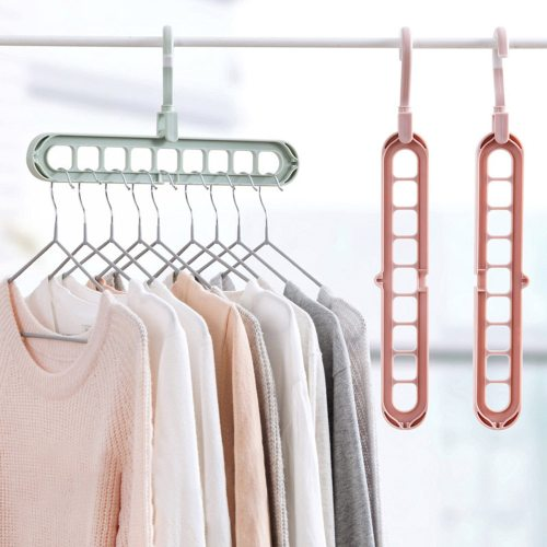 2 Pieces Home Hangers Solid Color Simple Multifunction Size: 335*175cm
