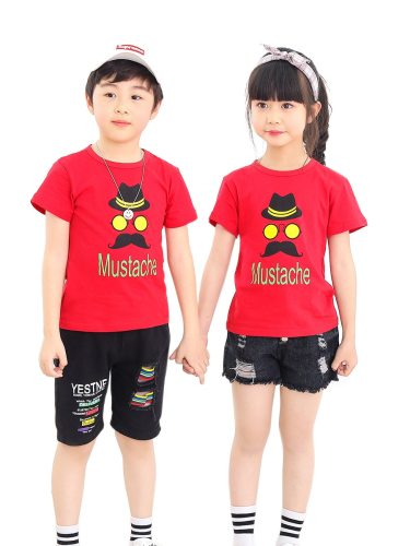 Boys and Girls Brother & Sister Family Outfits Pattern T Shirt Family Cartoon Crew Neck Short Sleeve