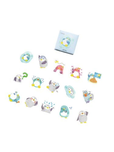 45Pcs Cartoon Stickers Cute Penguin Shaped Handbook Stickers Decor Animal Finance Multi Stickers Set Fresh