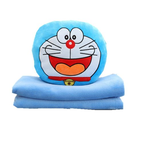 One Piece Plush Toy Lovely Cartoon Doraemon Shaped Soft Blanket Over 14 Years Old Others Stuffed Animal Toy