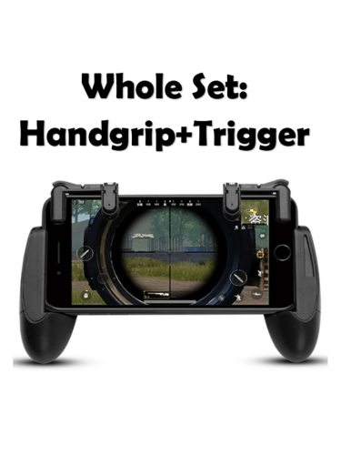 Handgrip + Trigger Set Portable Sensitive Phone Game Entry Level Others Features:1 Easy to carry2 Greatly enhance the game experience3 With a small