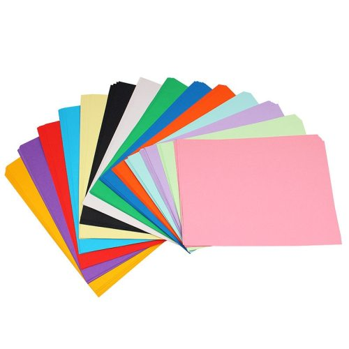 100Pcs Papers Solid Color Versatile Kid Hand Craft A4 Color Paper size:21*297cm