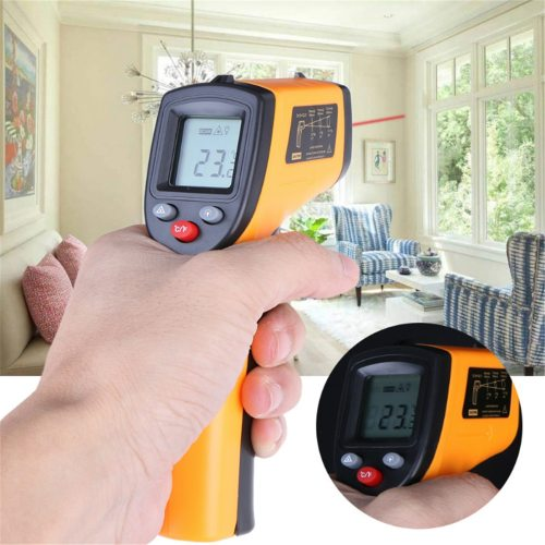 GM320 Infrared Thermometer Handheld High Accuracy Temperature Features of GM320 infrared thermometer:100% brand new℃ / ℉ selectionData retention