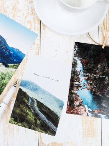 30Pcs Cards Creative Natural Scenery Design Chic Gift Size:143*93cm