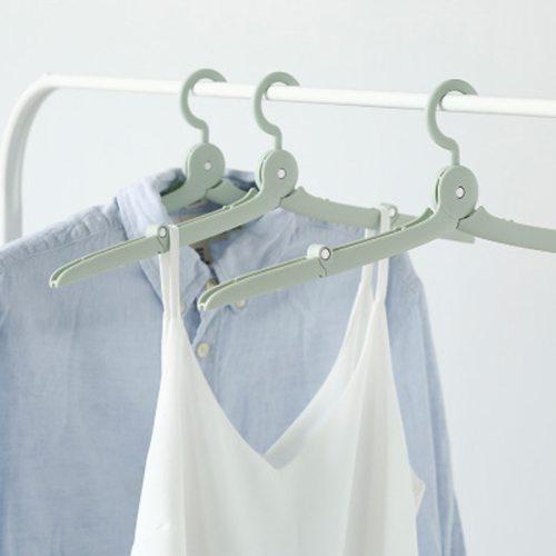 1 Piece Clothes Hanger Mini Foldable Portable Solid Color size:14*7cm
