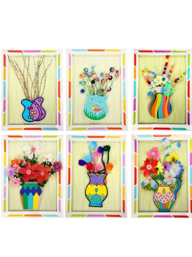 1 Set Students DIY Photo Frame Material Colorful Learning size:33*245cm