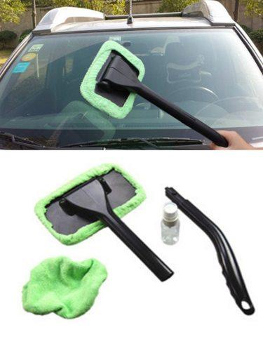 Car Cleaning Brush MicrofiberWashable Windshield Long Handle Auto Window Car Wash Brush Washable Long Handle Auto Window Cleaner Windshield Wonder of