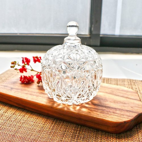 1 Piece Storage Box Crystal Glass With Cover Candy Storage Shipping Unrestricted None