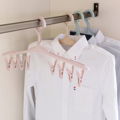 One Piece Hanger Detachable Wind Proof Clothes Storage
