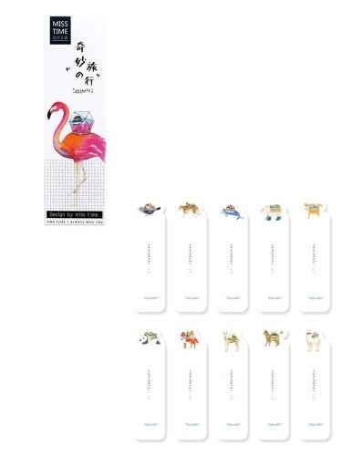 30Pcs Bookmarks DIY Creative Flamingo Animal Design Papery Size: 15*4*1cm