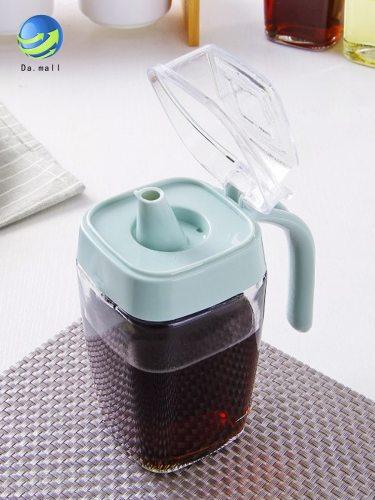 Kitchen Oil Bottle Simple Transparent Sealing Durable Oil Size: 142*7*7cm