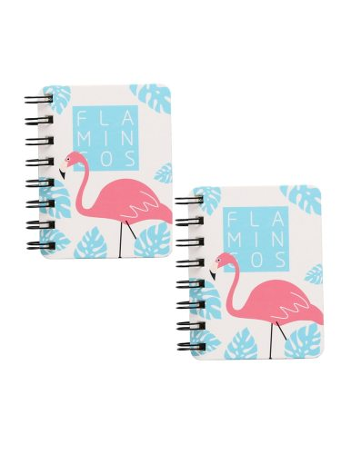 2 Pcs Notebooks Animal Pattern Cartoon Coil Mini Portable Others Drawing Vintage size: 10*86cm