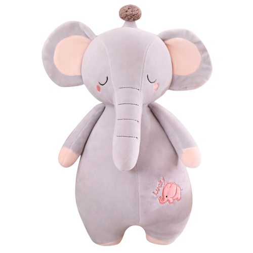 One Piece Plush Toy Cute Elephant Decor Soft Comfortable Pillow Stuffed Animal Toy Others size:45cm 60cm 0~3 Years Old