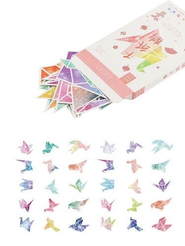 30 Pcs Greeting Cards Paper Crane Pattern Creative Design Writing Fashion Single Page Cards