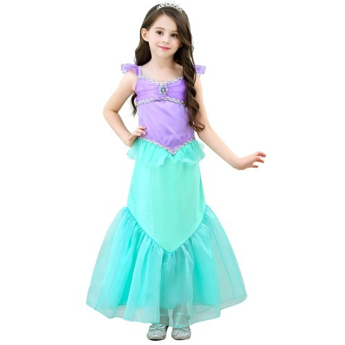 Toddler 's Costume Dress Color Block Patchwork 7Y Toddler Girls Girl Colorblock All Sequins Sleeveless Cosplay Dress