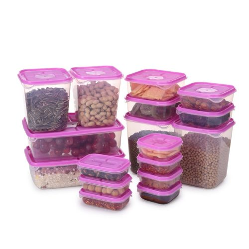 17 Pieces Sealed Food Containers Portable Convenient Kitchen Storage Shipping Unrestricted None size: as shown in picture