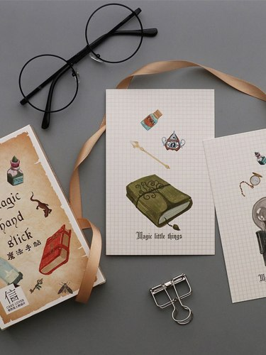 30Pcs Students Card Creative Design Adorable School Fresh Single Page Cards Writing size:15*13*1cm